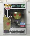 NYCC Krombopulos Michael RICK and MORTY Funko pop! w STICKER 2017 EXCLUSIVE!