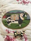Jim Shore BARNYARD Series Cow Cheese Plate And Matching Knife NEW HTF