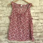Old Navy Womens Sleeveless Floral Red White Size Large