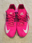 Mens NIKE Zoom Celar Flywire Racing Sprint Track Spikes Shoes Pink White Size 10