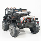 Kids 12V Electric Power Ride On Truck with Big Wheels Remote Control Black