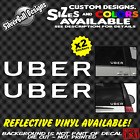Uber X2 Custom Text Vinyl Decal Car Window Sticker Sign Logo Rideshare Lyft
