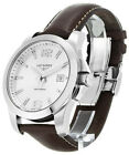 Longines Conquest Silver Dial Brown Leather Men Watch L36594765 aka L37594765