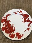 Temple Dragon by Fitz and Floyd  RED DRAGON DINNER PLATE 10 1/2