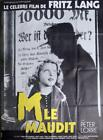M FRITZ LANG LORRE SERIAL KILLER REISSUE LARGE FRENCH MOVIE POSTER