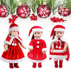 1 Set Cute Christmas Dress Red Dress Shawl Hat For Amrican Girl Dolls