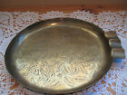 OLD VINTAGE RARE SHAPE SARNA BRASS INDIA LEAFS ENGRAVING ASHTRAY