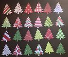 24 CHRISTMAS PINE TREES TAGS DIE CUTS PUNCHES CONFETTI 24 DIFFERENT PRINTS