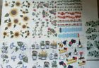 24 Sheets Rub on Stickers 3 sheets each or You Pick Any 24 Sheets Scrapbooking