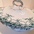 Bassett Porcelain England Serving Dish Bowl Kermit Green Soup Tureen Antique (X)