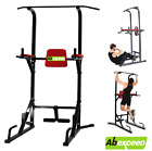 New Fitness Power Tower Dip Station Sit Pull Press Chin Up Bench Bar Ab Home Gym