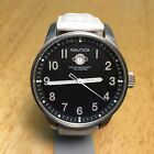 Nautica Mens 50m Large Steel Leather Analog Quartz Watch Hours~Date~New Battery