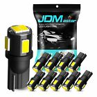 JDM ASTAR 10x T10 White LED Map Dome License Door Cargo Trunk Marker Light Bulbs