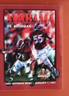 1997 OUTBACK BOWL MEDIA GUIDE ALABAMA FOOTBALL VS MICHIGAN SIGNED BY CAPTAINS