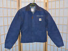 Carhartt Work Jacket J01 NVY Mens Size XS 38 R Blanket Lined Blue USA