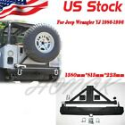 Rear Rock Crawler Rear Bumper &Tire Carrier Swing for 87-06 Jeep Wrangler YJ TJ