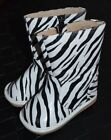 Squeaky Boots Zebra Black White Leather Toddler size 5