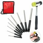 Roll Pin Punch Set 9 PC W Hammer Jewelry  Watch Repair Remover Tool Kit