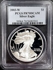2003 W Proof Silver Eagle certified PR 70 DCAM by PCGS NO RESERVE