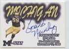 FRANK NUNLEY M STAT AUTO TK LEGACY MICHIGAN WOLVERINES AUTOGRAPH ST28 100