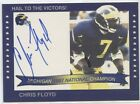 CHRIS FLOYD AUTO TK LEGACY MICHIGAN WOLVERINES 1997 NATIONAL CHAMPIONS AUTOGRAPH