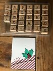 Stampin Up Simple Type Alphabet Upper Lower Christmas card scrapbooking