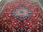 10X13 1940s SPECTACULAR ANTQ 70+YRS HAND KNOTTED SIGNED WOOL MASHAD PERSIAN RUG