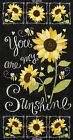 YOU ARE MY SUNSHINE Sunflower Chalkboard Panel Quilt Fabric 24 x 43 TTreasures