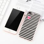 Soft TPU Black Striped Phone Case Cover for Iphone 4 4s