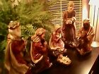 Nativity Set  6 Piece Resin Wood carved Look