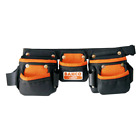 #BAHCO Junior Tool Belt Bag Holster Holder with Three Pouches Black 4750-JU3PB-1
