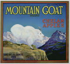 MOUNTAIN GOAT Vintage Lake Chelan Apple Crate Label Ram AN ORIGINAL LABEL