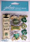 Scrapbooking Crafts Stickers Jolees Irish St Patricks Day Lucky Clovers Cheers
