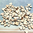100pcs Mixed Rustic Wooden Love Heart Wedding Table Scatter Decoration 4 Sizes