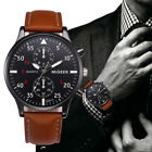 Retro Design Leather Band Watches Men MiGEER Relogio Masculino 2017 NEW Mens