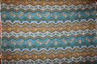 NEW 1YD 10 NEW Polyester Quilting Sewing Fleece Blue Brown Geometric 58W