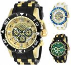 Invicta Mens Pro Diver Chronograph 50mm Gold Tone Watch Choice of Color