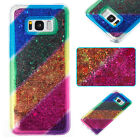 Soft Hybrid Liquid Quicksand Silicone Rainbow TPU Case Cover For Phone iPhone