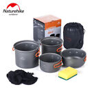 Naturehike 2 3 persons Outdoor Pot Sets Camping Cookware Picnic Pots and Pans