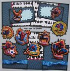 Premade Scrapbook Pages Mat Set SUPER HERO Spider man Sewn Album Layout pack890