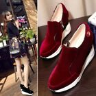 Womens Velvet Fashion Wedge Sneakers Platform Sport Ankle Boots Trainers Shoes