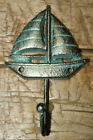 Cast Iron Antique Style SAILBOAT Coat Hooks Hat Hook Rack Towel SHIP Nautical