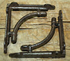 2 Cast Iron Antique Style CABLE Brackets, Garden Braces Shelf Bracket Industrial