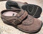 Merrell Encore Sidestep Womens 65 Stone Brown Leather Wool Slip On Mule Clogs