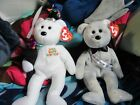 TY BEANIE BABY 2006 AND 2008 HAPPY NEW YEAR BEARS.  MWT.