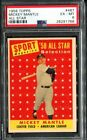 1958 Topps #487 Mickey Mantle All Star PSA 6