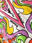TRUE VTG MAURICE Mod HiPPiE DRESS White NeOn Signature S M Lord Taylor 70s Knit