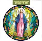 OUR LADY OF GRACE Catholic Window Decal-Reusable Suncatcher-Stained Glass Design
