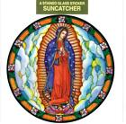 GUADALUPE Catholic Window Decal-Reusable Suncatcher-Stained Glass Design