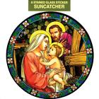 HOLY FAMILY Catholic Window Decal-Reusable Suncatcher-Stained Glass Design